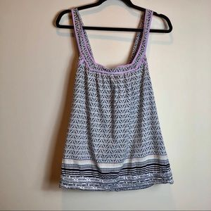 Roxy Printed Tie Back Tank